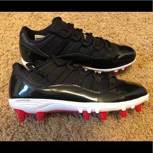 "NEW Nike Air Jordan 11 Low ""Bred"" Cleats"